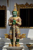 Pattaya, Thailand: Demon Guardian Figure at Wat Chai Mongkhon — Stock Photo