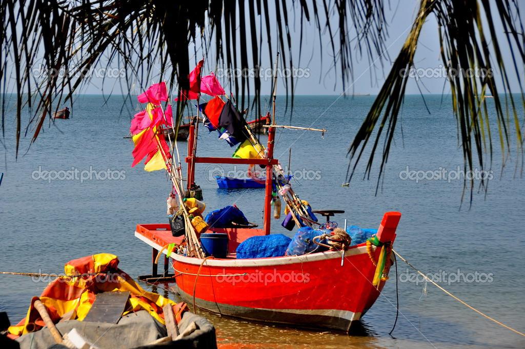 Bang Saen, Thailand: Fishing Trawler At Pier Editorial
