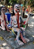 Bang Saen, Thailand: Garden of Hell Figures at Wat Saen Suk — Stock Photo