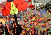 Pengzhou, China: Colourful Chinese New Year Kites — Stock Photo
