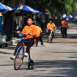 Bang Saen, Thailand: Thai Youth Riding Bicycle — Stock Photo