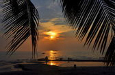 Bang Saen, Thailand: Sunset over the Ocean — Stockfoto