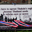 Bangkok, Thailand: Operation Shut Down Bangkok Protest Sign — Stock Photo #40824965