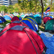 Постер, плакат: Bangkok Thailand: Operation Shut Down Bangkok Demonstrators Sleeping Tents