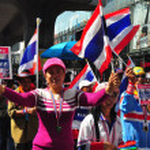 Bangkok, Thailand: Operation Shut Down Bangkok Demonstrators — Stock Photo