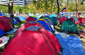 Bangkok, Thailand: Operation Shut Down Bangkok Demonstrators' Sleeping Tents — Stock Photo