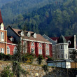 Bai Lu, Sichuan province, China: Sino-French Village Buildings — Stock Photo