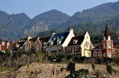 Bai lu, china: edifícios vila sino-francês — Fotografia Stock