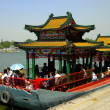 Beijing, China: Tourist Boat in Behei Park — Stock Photo