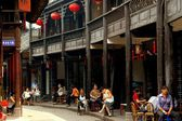 Huang Long Xi, China: Centuries-Old Wooden Sichuan Houses — Stock Photo