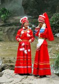 Guilin, China: Two Women in Yao People Clothing — Stock Photo