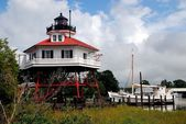 Solomon's Island, MD: 1883 Drum Point Lighthouse — Stock Photo