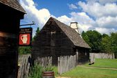 Farthing's Ordinary and !7th Century House in St. Mary's City, MD — Stock Photo