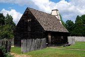 St. Mary's City, Maryland:  17th Century Wooden House — Stock Photo