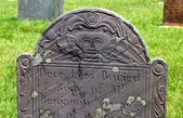 Southold, NY: Coloial-era Tombstone — Stock Photo