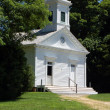 Old Bethpage Village, NY: 1857 Manetto Hill Church — Stock Photo