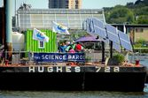 Yonkers, NY: The Science Barge — Stock Photo