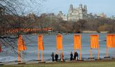 Christo's The Gates in NYC's Central Park — Stock Photo