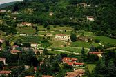 Brescia, Italy:  View of Vineyards and  Villas — Stock Photo