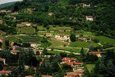 Brescia, Italy:  View of Vineyards and  Villas — Stock Photo