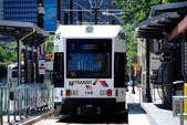 NJ Transit Light Rail Train in Newark, NJ — Stock Photo