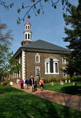 Alexandria, VA: Parishioners at Christ Church — Stock Photo