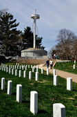 Arlington, VA: Maine Battleship Memorial at Arlington National Cemetery — Stock Photo