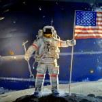 Washington, DC: Moon Landing Mural at NASA Museum — Stock Photo