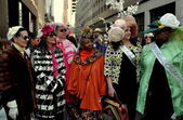 NYC: Millinery Guild Women at Easter Parade — Stock Photo