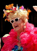 NYC: Flamboyant lady at the Easter Parade — Stock Photo