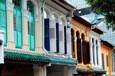Singapore: emerald heuvel peranakan huizen — Stockfoto