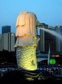 Singapore: The Merlion Fountain — Stock Photo