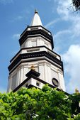 Singapore: Spire of Hajjah Fatimah Mosque — 图库照片
