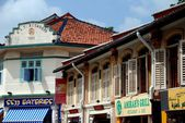 Singapore: Restaurants in Kampong Glam Shop Houses — 图库照片