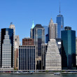 Lower Manhattan skyscrapers — Stock Photo #46178385