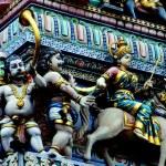 Singapore: Sri Veeramakaliamman Hindu Temple — Stock Photo
