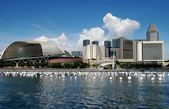 Singapore: Theatres on the Bay and Hotels — Stock Photo