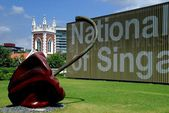 Singapore: Sculpture at National Museum of Singapore — Stock Photo