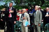NYC:  Mayor Bill DeBlasio at Memorial Day Ceremony — Stock Photo