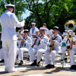 NYC: U. S. Navy Band at Memorial Day Ceremonies — Stock Photo