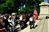 NYC: Scottish Pipes & Drums at Memorial Day Ceremonies — Stock Photo
