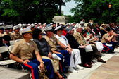 NYC: Memorial Day Ceremonies Audience Members — Stock Photo