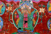 Lijiang, China: Naxi Wall Painting — Stock Photo