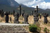 Lijiang, China: Wooden Burial Markers — Stock Photo