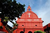Melaka,Malayais: 1753 Christ Church — Stock Photo