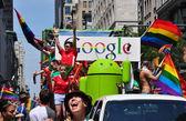 NYC: GOOGLE Float at the 2014 Gay Pride Parade — Stock Photo