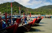 Penang, Malaysia: Wooden Fishing Boats — Stock Photo