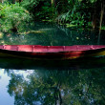 Batu Ferringhi, Malaysia: Boat at Spice Gardens — Stock Photo #51185185