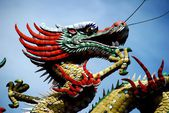 Georgetown, Malaysia: Dragon on Chinese Temple — Stock Photo