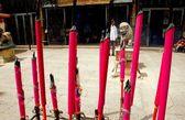Georgetown, Malaysia: Kuan Yin Temple Incense Sticks — Stock Photo